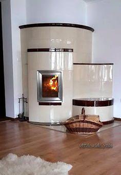 modern cserépkályha Affordable Prefab Homes, Stoves, Living Room, Fireplaces, Villas, Modern, Home Decor, Wood Burning Fireplaces, Wood Stoves