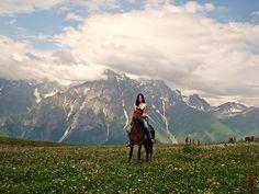 Svaneti, Republic of Georgia #georgia #horse #mountains
