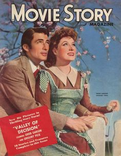 Greer Garson, Movie Story May 1945 ~ with co-star Gregory Peck