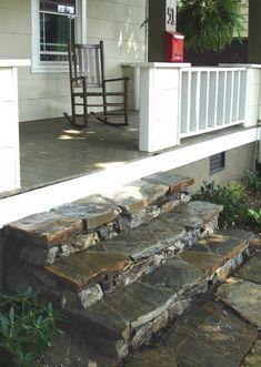 Stone steps into house
