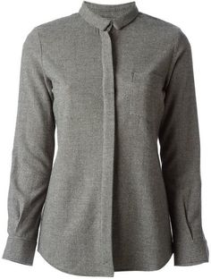 'Grey wool houndstooth pattern shirt from Golden Goose Deluxe Brand.' www.sellektor.com