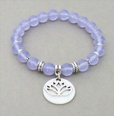 handmade jewelry - lavender quartz yoga bracelet   handmade-beaded-gemstone-jewelry.com  #handmade #yoga #jewelry