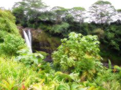 Una bianca cascata in un verde avvolgente