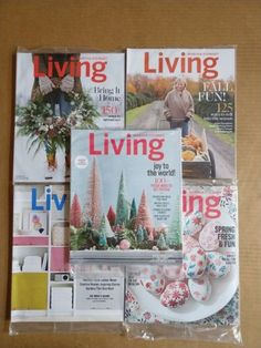 201617 martha stewart living magazines lot of 5 new in factory wrap