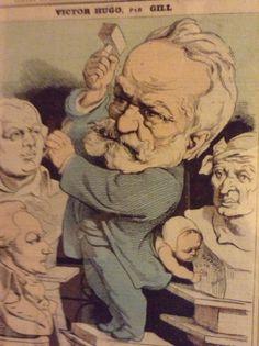 Victor Hugo vu par un caricaturiste