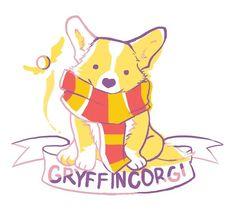 Gryffincorgi Corgi by Daamile