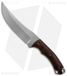"Zero Knives Ram Maramba Persian Fixed Blade w/ Desert Ironwood (5.5"" Plain) $425"