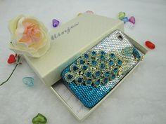 Rhinestone Peacock phone case