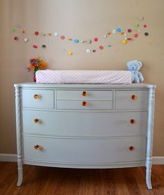 Adorable Changing Table From Picked And Painted