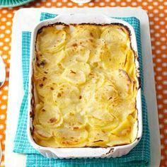 Simple Au Gratin Potatoes Recipe from Taste of Home -- shared by Cris O'Brien of Virginia Beach, Virginia