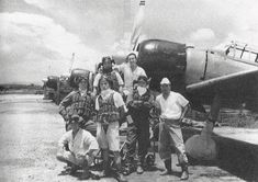 Pilots of Japanese Navy Air Group, Kupang, Timor, Dutch East Indies, Feb Navy Aircraft, Aircraft Photos, Ww2 Aircraft, Military Aircraft, Us Marines, Pearl Harbor, Imperial Japanese Navy, Imperial Army, Japanese History