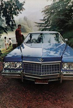 Cadillac advertisement. 1973. When they were still Cadillacs. My dad had one of these.