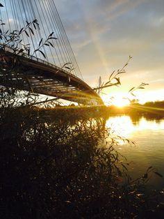 Amazing sunset, Passerelle des deux rives.
