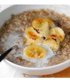 Oatmeal with Brûléed Bananas
