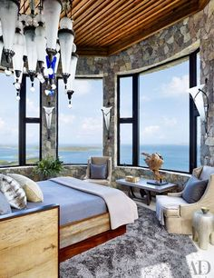 The Master Suite with a view to remember as seen in Architectural Digest.