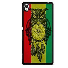 Owl Jamaican Flag TATUM-8361 Sony Phonecase Cover For Xperia Z1, Xperia Z2, Xperia Z3, Xperia Z4, Xperia Z5