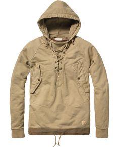 Military anarok styled hooded sweater - Scotch and Soda.