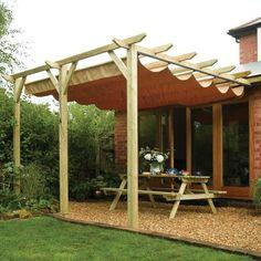 DIY Retractable Pergola Roof