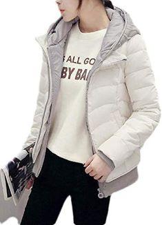 Joe Wenko Womens Hooded Puffer Zipper Long Sleeve Winter Packable Down Coat