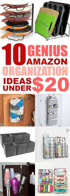 These 10 home organizing ideas are THE BEST!! I'm so happy I found these AMAZING home organization ideas for the home from Amazon! Even though I'm on a budget, I can declutter my home! Definitely pinning!