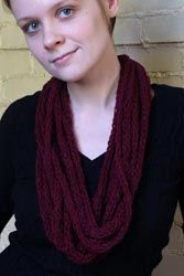 Finger Knitted Necklace Scarves