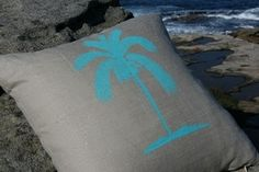 Simple painted pillow.