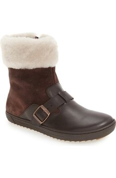 Birkenstock 'Stirling' Genuine Shearling Boot (Women) available at #Nordstrom