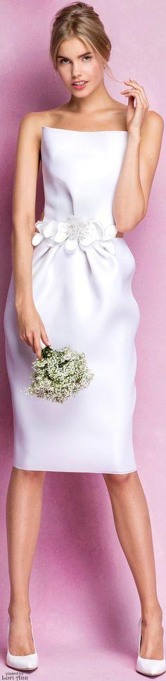 Trending Spring 2016 - Short & Sweet Bridal Dresses (image features: Angel Sanchez Bridal Spring 2016)