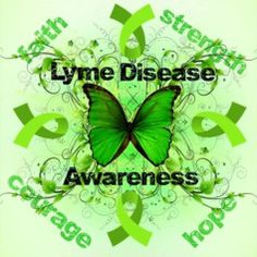 "Love this one too! Again, could tweak the green shades to my liking but the butterfly is so pretty and great cause! Maybe add a one of the mottos under it also ""Mean Green Lyme Fighting Machine!"" Lyme Disease Awareness"