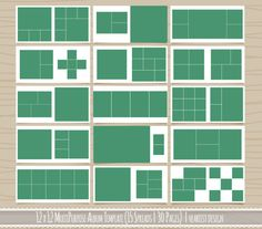 Multipurpose 12x12 Square Album Template  30 by heartistdesign