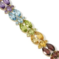 Marquise-Cut Multigem 10K Bracelet