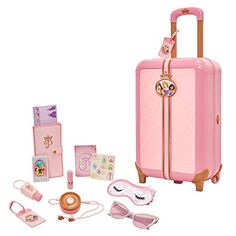 Disney Fairies Travel Suitcase Play Set for Girls with Luggage Tag by Style Collection, 17 Pretend Play Accessories Lego Disney, Disney Toys, Toys For Girls, Kids Toys, Toy Playhouse, Disney Princess Toys, Travel Set, Lol Dolls, Pretend Play