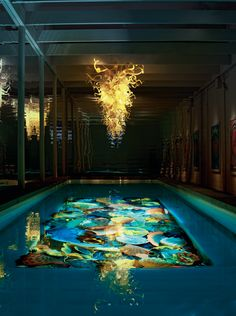 Glass artist Dale Chihuly created a privately commissioned 22 x 12 pool installation -- transforming it into a world-class private work of art.