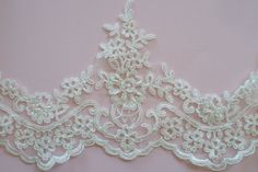 Ivory Lace Trim Bridal Lace Wedding Gown Lace Beaded by JLWeddings, $9.75