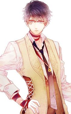 Axel from Ozmafia, an upcoming otome game set in the land of OZ