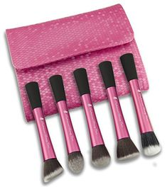 Maketop Professional 5PCS Makeup Brush Fine Funfamental Cosmetic Brush Brush Kit  pink  *** Click image to review more details. (Note:Amazon affiliate link)