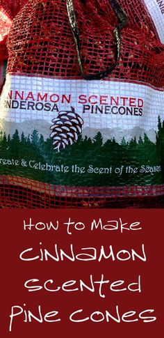 Cinnamon scented pine cones are a great addition to your Christmas decor and they make great Christmas gifts. You can purchase them in a store for about $10 for 12-20 pine cones or you can make your own for much less money, especially ...