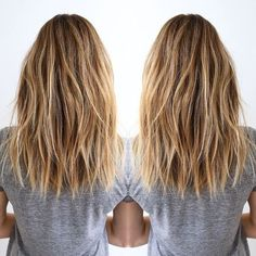 Frisuren Layered, Brown, Blonde Balayage - Shoulder Size Coiffure for Thick A Cocktail Cos Long Layered Haircuts, Long Bob Hairstyles, Everyday Hairstyles, Natural Hairstyles, Long To Medium Haircuts, Thick Hair Styles Medium, Blonde Haircuts, Trending Hairstyles, Ombre Hair