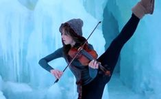 Lindsey Stirling - she's crazy but I love her music! Go watch her videos on youtube!