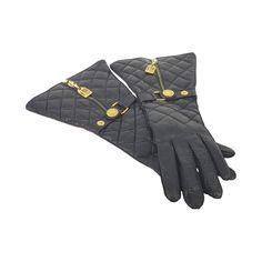 Rare Chanel Black Quilted Leather Rue Cambon Gloves  | From a collection of rare vintage gloves at https://www.1stdibs.com/fashion/accessories/gloves/