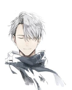 ~ Yuri one ice ~> Victor Nikiforov- Manga Anime, Fanarts Anime, Manga Boy, Anime Boys, Yuri Plisetsky, Yuri On Ice, Ice Art, ユーリ!!! On Ice, Gekkan Shoujo