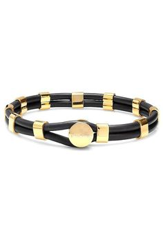 Steeltime Black & Gold Bracelet