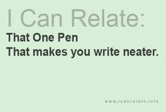 for real... for me, it's usually my fancier fountain pens!! LOve them!