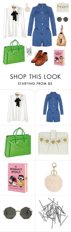 """""""botones"""" by breeeeeen ❤ liked on Polyvore featuring WithChic, Vanessa Bruno Athé, McKleinUSA, Olympia Le-Tan, Armitage Avenue and Monki"""
