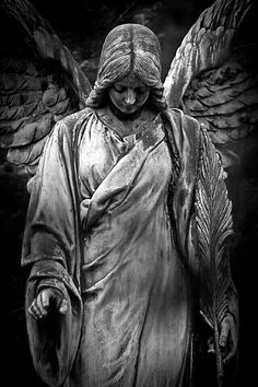 Sad Angel - My list of best tattoo models Cemetery Angels, Cemetery Statues, Cemetery Art, Guardian Angel Tattoo, Angel Tattoo Men, Angel Garden Statues, Sad Angel, Statue Tattoo, 4 Tattoo