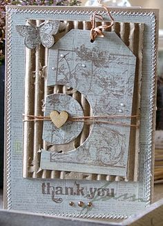 Textured Thank You card