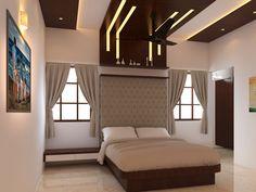 Stylish Bedroom, Modern Bedroom, Bedroom Furniture Design, Bedroom Designs, Jewelry Store Design, Bedroom Wall, Bed Room, Ceiling Design, Engineering