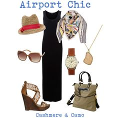 Airport Wear, created by cashmereandcamo on Polyvore