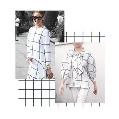8a36e90f2 Pull off a grid pattern shirt like @oliviapalermo with Twist X Turn Windows  Pussy Bow