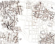 Rasem Badran - Drawings of Wadi Abu Jamil Housing Project in Beirut